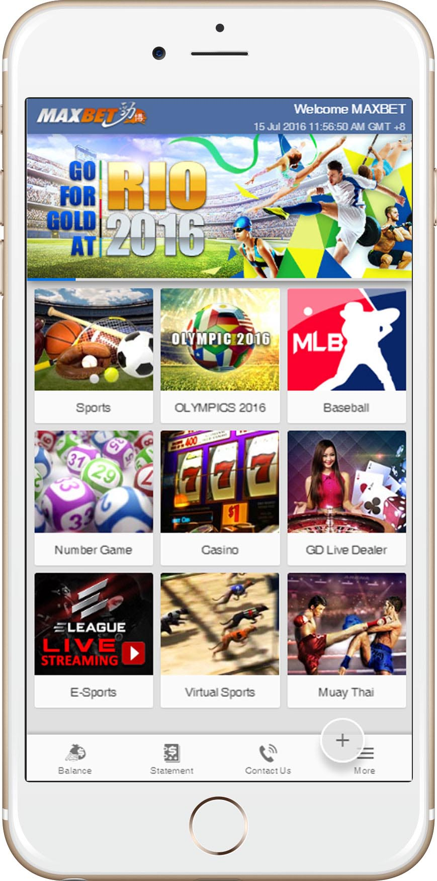 MAXBET Sportsbook Online - betting via smartphone ios android html5 - asiabetking