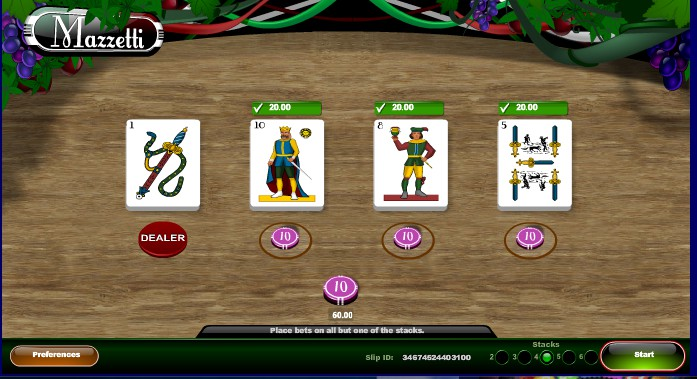 cara bermain mazzetti online